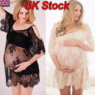 Women's Maternity Dress Lace Dressing Gown Sexy Pregnancy Lingerie PhotoShoot UK