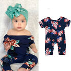 0-24 months baby clothes - US Newborn Baby Girl Bodysuit Cotton Floral Romper Jumpsuit Outfit 0-24M Clothes
