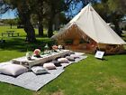 3M 4M 5M 6M Cotton Canvas Bell Tent Waterproof Hunting Camping Yurt Tent Luxury