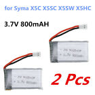 1/2/3/5 Pcs 3.7V 800mAh Li-po Battery Pack For SYMA X5C X5SC X5SW X5HC RC Drones