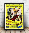 Moulin Rouge : Vintage movie advertising , poster, Wall art, reproduction.