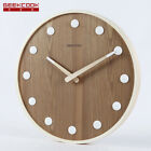 Large 14 Wooden Wall Clock Ceramic Scale Home Decor Watch Modern Design Silent