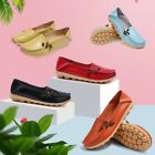 Womens Driving Leather Shoes Peas Loafers Flats Casual Moccasin Walking