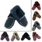 100% Sheepskin Moccasin Slippers Warm Winter Soft Comfy Casual UNISEX