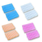 2 Pack 24 Grids Plastic Storage Box Jewelry Earring Tool Containers Organizer