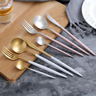 Stainless Steel Pink Golden Cutlery Set Gold Plated Wedding Dinnerware Set