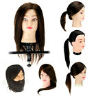 """14""""/18""""/22"""" Synthetic Hairdressing Training Practice Mannequin Head Clamp BL"""