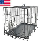 Indoor Pet Kennel Cat Dog Folding Steel Crate Animal Playpen Wire Cage Suitcase