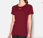 Under Armour Women's Locker Short Sleeve T-Shirt Cardinal Gy