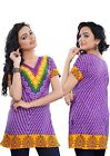 UK STOCK - Women Casual Indian Short Kurti Tunic Kurta Top Shirt Dress78B