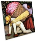 Diego Rivera The Flower Carrier Picture CANVAS WALL ART Square Print