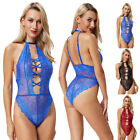 Transparent Women Sexy Babydoll Lingerie Floral Nightwear Ladies Red Hollowed