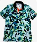 Adidas Men's Climachill Floral Maximum Cooling Golf Polo Shirt Top MSRP $85.00