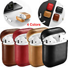 Genuine Leather Headset Case Bag Cover Protective For Apple AirPods Charging