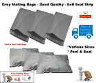 Strong Grey Mailing Postal Bags - Peel & Self Seal - Multi-Listing - *All Sizes*