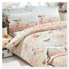Rapport Hey Birdie Birds Floral Novelty Reversible Duvet Cover Bedding Set Multi