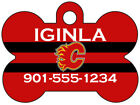 Calgary Flames Custom Pet Id Dog Tag Personalized w/ Name & Number $11.67 USD on eBay