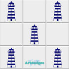 Lighthouse Tile Stickers Bathroom Nautical Vinyl Wall Art Transfer Decal