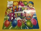PLASTIC HAPPY BIRTHDAY GARDEN SIGN The Party Is Here For Boys & Girls Party Fun