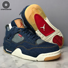 AIR JORDAN 4 IV RETRO 'LEVIS DENIM' - DENIM/DENIM-SAIL-GAME RED - AO2571-401
