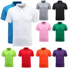 Men Polo Shirts Short Sleeve Collar Basic Tee Casual Blouse Tops T-Shirt Golf LS