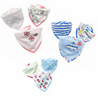 3pcs Baby Bibs 100% Cozy Cotton Bandana Feeding Kids Toddler Gilrs Boys Unisex 1