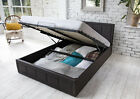 Ottoman Storage Gas Lift Up Double & King Size Leather Bed Memory Foam Mattress