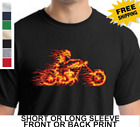 ghost rider 2 motorcycle - Biker On Fire Ghost Rider Classic Motorcycle Indian Flames New Mens T Shirt