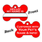 Double Sided Custom Pet Id Dog Name Tag Personalized for Your Pet