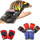 Flames Open Fingers Grappling Fighting Boxing Muay Thai Mma Gloves Punching Mitt