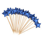20pcs Star Cake Topper Sign Home Party Shop Cupcake Toothpicks
