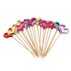 20 Pieces Toothpick Heart Cupcake Picks Cake Toppers Wedding Birthday Party