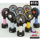 BTS Official BT21 Figures Operated Handheld  mini Fan Rechargeable Battery