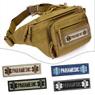 Внешний вид - PARAMEDIC Letter Embroideried Armband Patch Applique Badge With Hook & Loop New
