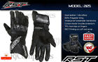 RST 2125 Blade II CE Summer Sports Leather Waterproof Motorcycle Gloves - Black