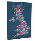 United Kingdom City Text Map Box Canvas and Poster Print (234)