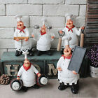 Collectible Chef Figurines Statue Home Kitchen Restaurant Decor Welcome Sign