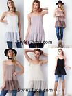 NEW Easel Clothing Jolynn Sheer Chiffon Shirt Extender Undershirt Tank Cami 6815
