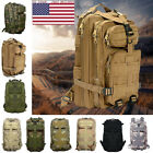 Camo Hiking Camping Bag Army Tactical Trekking Rucksack Outdoor Backpack T9