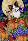 Morigins Fall Harvest Moonlight Cat Double Sided Autumn Pump