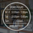 waterford lakes store hours - Customizable Business Store Hours Vinyl Window Decal Sticker Sign Glass Door T6