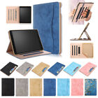 For iPad 9.7 2018 2017 Release PU multi-angle Stand Wake up/Sleep Case for 5/6
