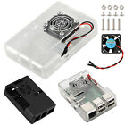 ABS Case Clear Box Shell Cover W/ RPI CPU Cooling Fan fit For Raspberry Pi 2 / 3