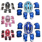 USA Boys Girls Kids Safety Helmet & Knee & Elbow Pad Set For Cycling Skate Bike