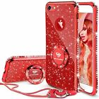 For iPhone 6 Plus/6s Plus Case Diamond Bling  Glitter Bumper Cover Kickstand Red