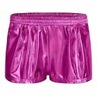 Womens Patent Leather Loose Boxer Wetlook Clubwear Workout Cloth