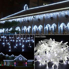 Dead white 96-1000 LED Christmas String Fairy Indoor/Outdoor Icicle Curtain Lights FZ