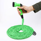 Latex Deluxe 25 50 75 100FT Expanding Flexible Garden Water Hose w/ Spray Nozzle