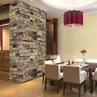 Peel  Stick 3D Stone Brick Wall Paper Sticker Kitchen Bathroom Waterproof