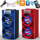 Outdoor Dual Speakers Portable Wireless Bluetooth Stereo Super Bass HQ MP3 FM TF
